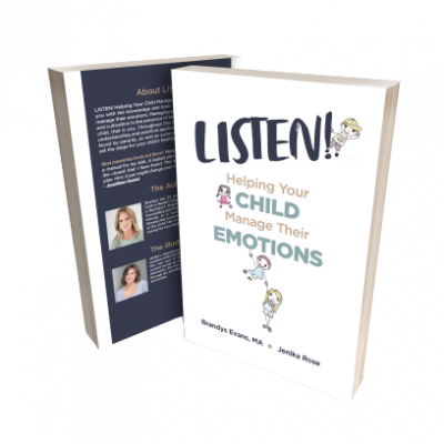 Image of book titled Listen by Brandys Evans, Clinical Counsellor based in North Vancouver